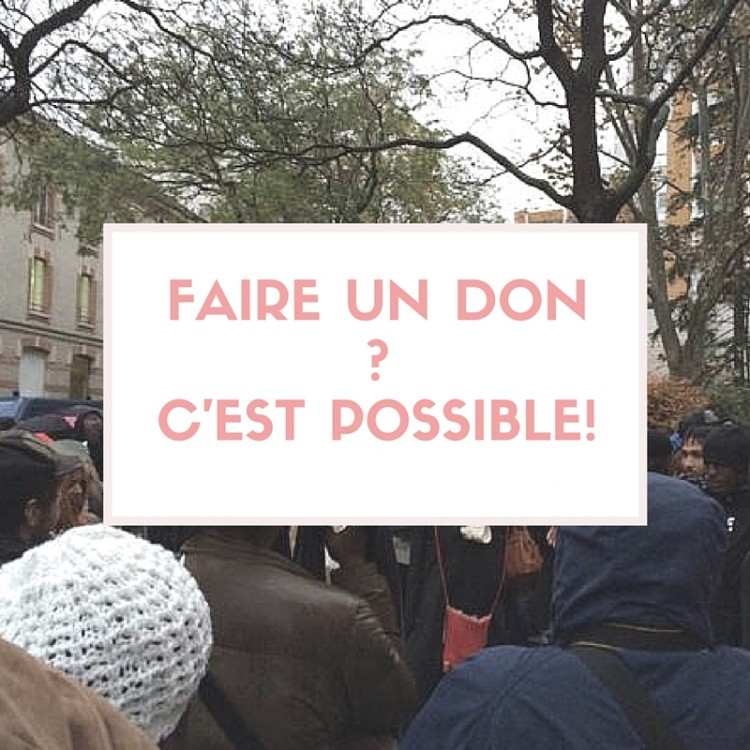 Faire un don -c'est possible!